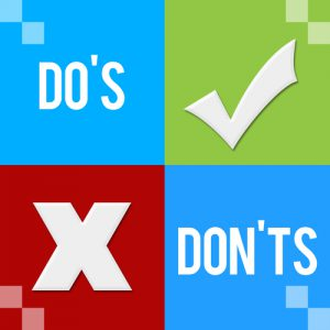 do's don'ts